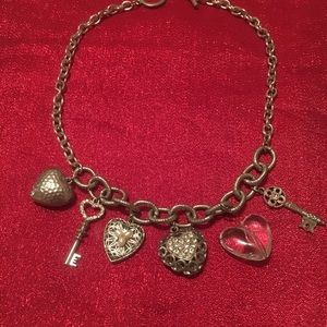 Keys and hearts necklace